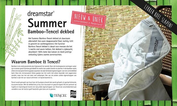 Dreamstar zomerdekbed bamboo Tencel