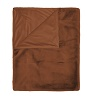 Essenza plaid Furry leather brown