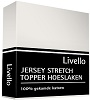 Livello Topper jersey hoeslaken offwhite