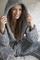 Livello fleece badjas Norway grijs sfeer