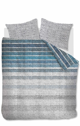 Beddinghouse dekbedovertrek Jarno blauw