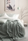Livello dekbedovertrek Pompom wit en groen sfeer