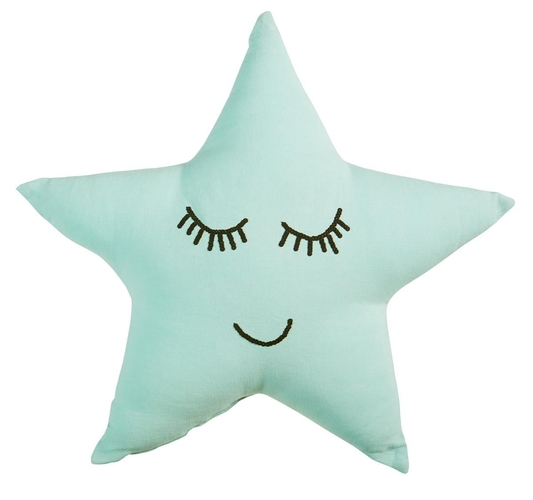 Beddinghouse sierkussen Dreaming Star mint groen
