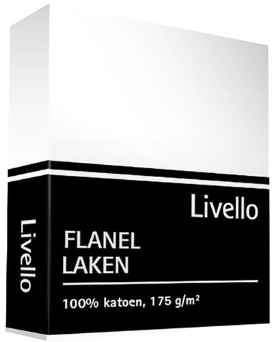 Livello laken flanel wit