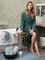 Vandyck badjas Prestige uni vintage green sfeer
