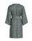 Essenza kimono Kaila Snake groen achterkant