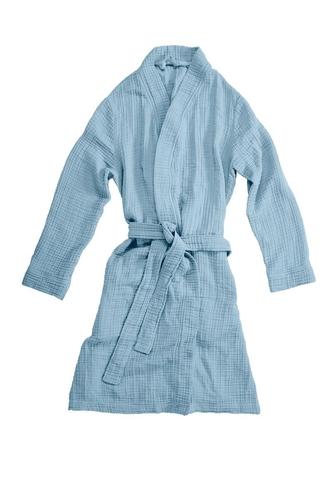vtwonen badjas Cuddle blauw