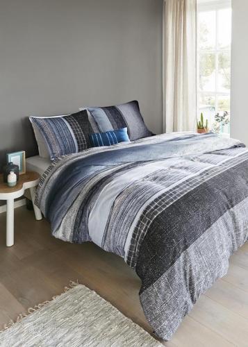 Beddinghouse dekbedovertrek Donegal blauw grijs