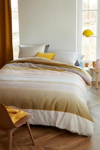 Beddinghouse dekbedovertrek Erland geel
